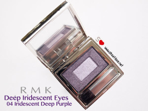 Review: RMK Deep Iridescent Eyes #04 Iridescent Deep Purple, Liking The Color On The Palette But Not On My Eyelid