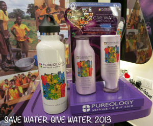 Pureology Relaunched Limited Edition Hydrate Range and WaterSaver™ Salon Program for Save Water. Give Water. Campaign 2013