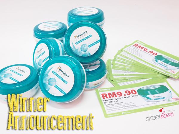 Himalaya Nourishing Skin Cream Winner Announcement