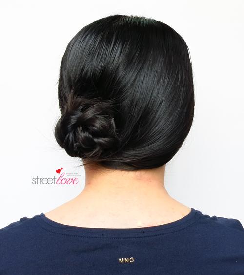 Hair Tutorial Side Braided Bun 2
