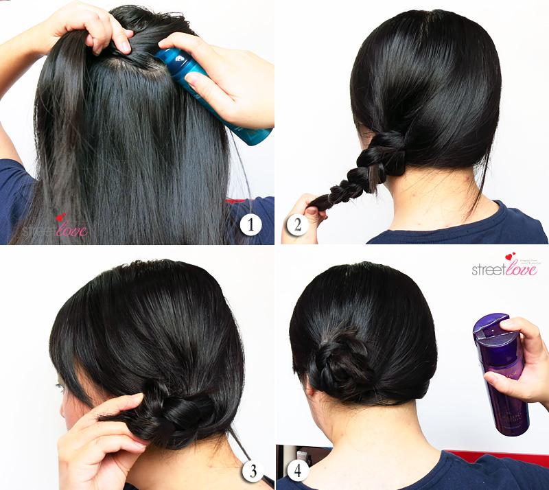 Hair Tutorial Side Braided Bun 3