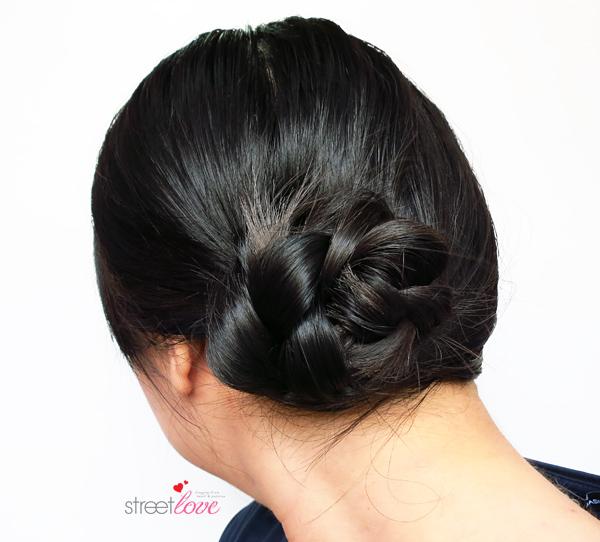 Hair Tutorial Side Braided Bun 4