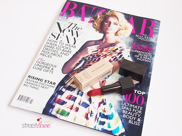 Harper's Bazaar February 2014 X Burberry Beauty Lipstick 1