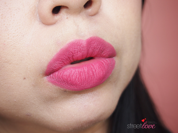 NYX Soft Matte Lip Cream San Paulo on the lips