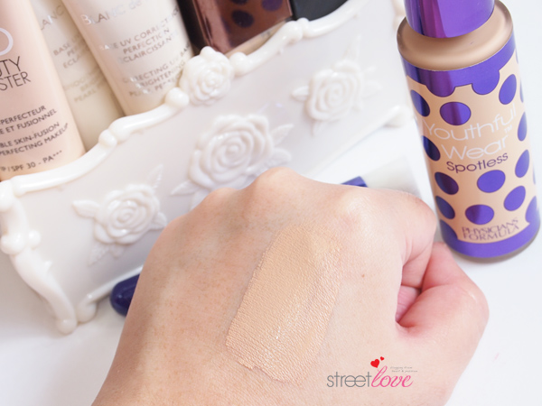 Physicians Formula Youthful Wear Spotless Foundation & Brush Swatch