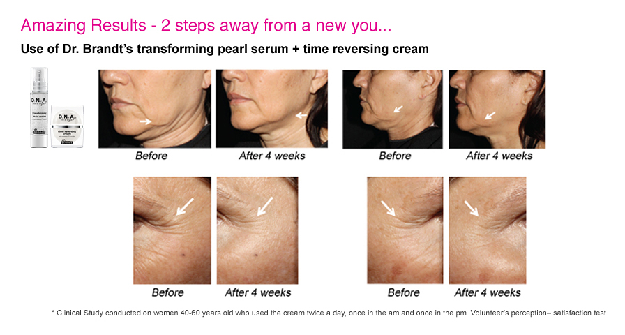 Dr. Brandt. Do Not Age Time Reversing Cream Before and After2