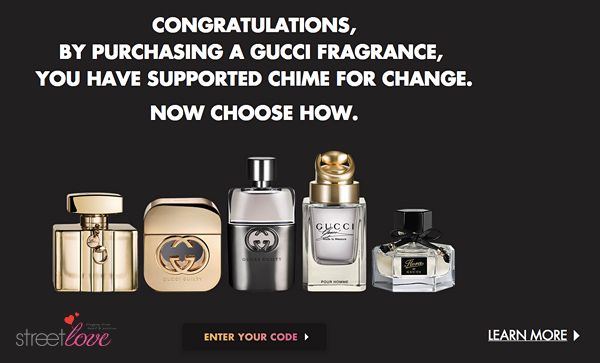 Gucci Chime For Change Donation Code 1