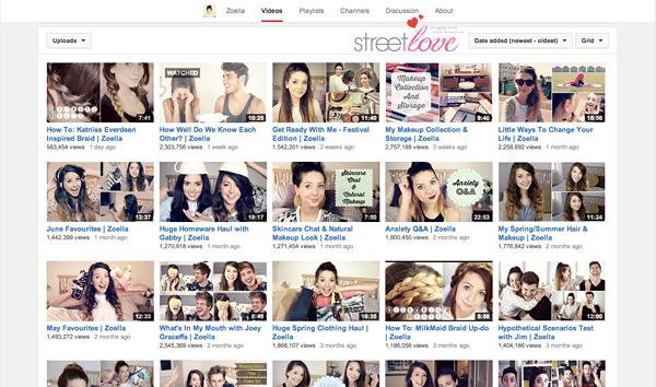 YouTube Favourite 18 Zoella