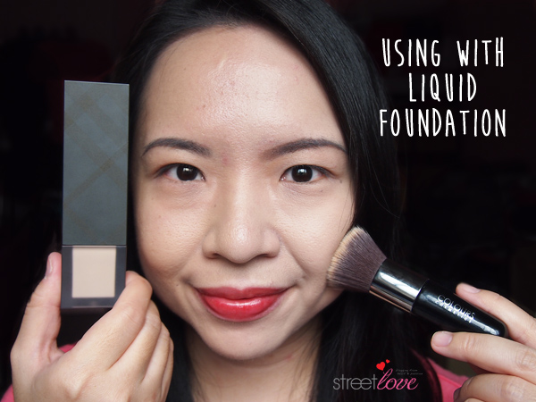 Colours Cosmetics Malaysia Flat Top Foundation Brush using with Liquid Foundation 1