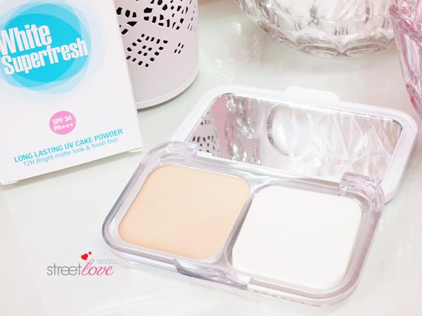 Maybelline White Superfresh Long Lasting UV Cake Powder Inside Palette