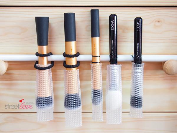Brush Drying With Towel Rail & Hair Ties