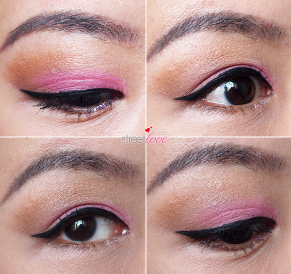 Make Up For Ever Ink Liner on the eye