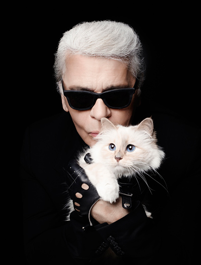 Karl Lagerfeld with Choupette