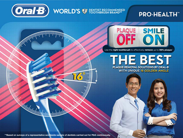 Oral-B Plaque Off Smile On