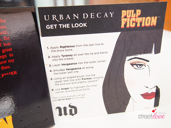 Urban Decay Pulp Fiction Eyeshadow Palette Get The Look Card