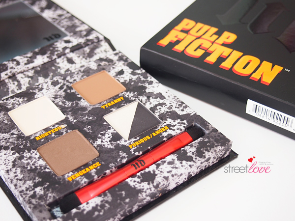 Urban Decay Pulp Fiction Eyeshadow Palette Inside