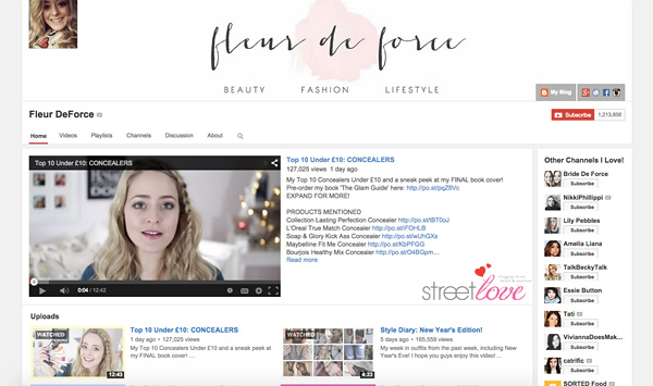 Fleur de Force Youtube