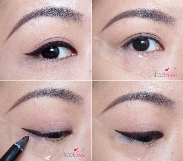 How to apply pencil eyeliner - Winged