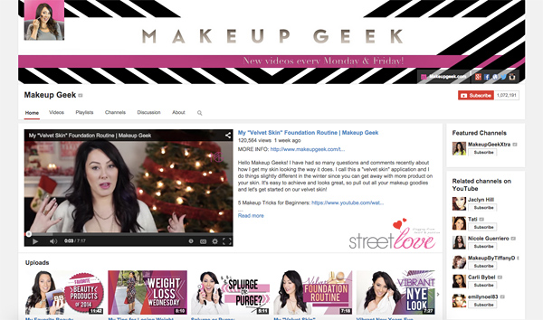 Makeup Geek Youtube