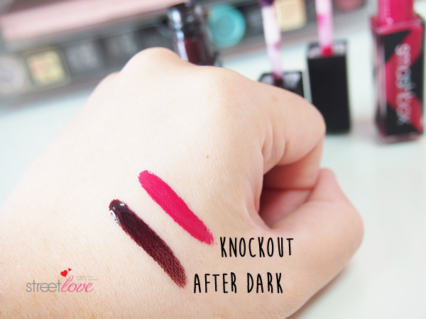Smashbox Be Legendary Long Wear Lip Lacquer After Dark and Knockout Hand Swatch