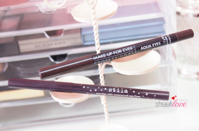Stila Smudge Stick Waterproof Eye Liner and Make Up For Ever Aqua Eyes