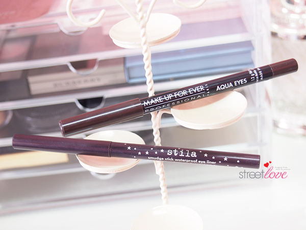Stila Smudge Stick Waterproof Eye Liner and Make Up For Ever Aqua Eyes
