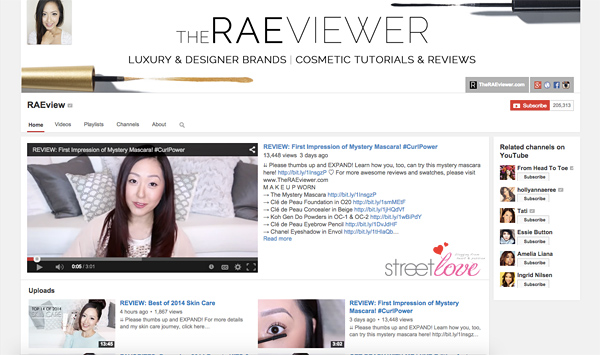 The Raeviewer Youtube
