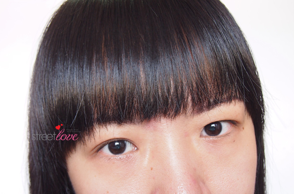 Bangs Cut Supporter Finish Look 1