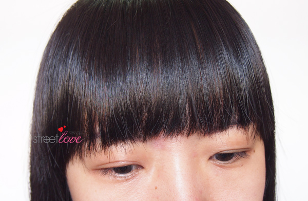 Bangs Cut Supporter Finish Look 2