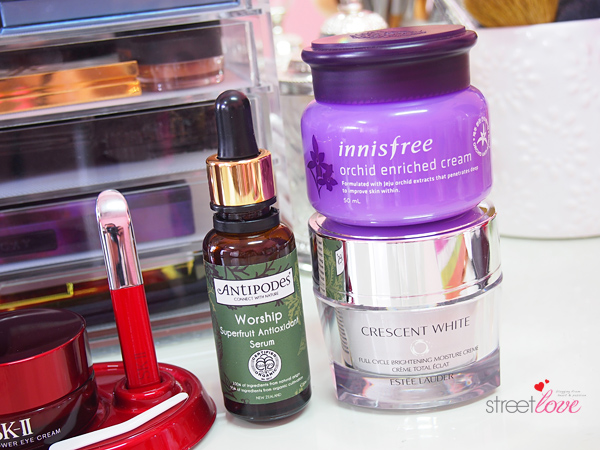 My Night Skincare Routine 2015 Serum and Moisturizer
