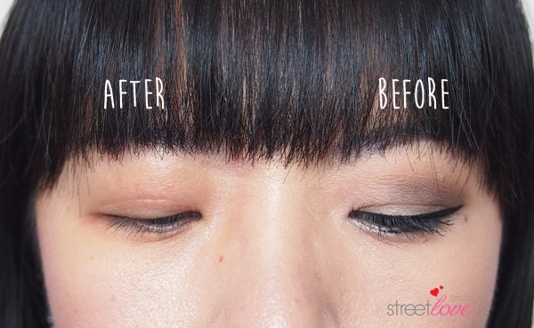 Dr.Jart+ Dermaclear Micro Water Eye Makeup Before and After