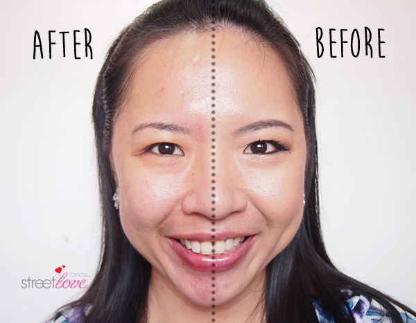 Dr.Jart+ Dermaclear Micro Water Face Makeup Before and After