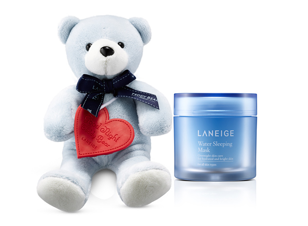 Laneige Goodnight Teddy Bear with Water Sleeping Mask