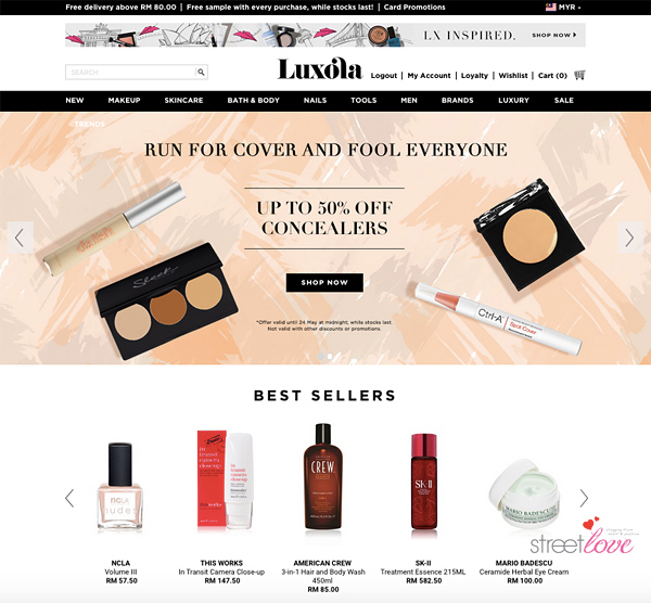 Luxola Beauty Products