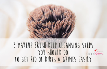 Three Makeup Brush Deep Cleansing Steps