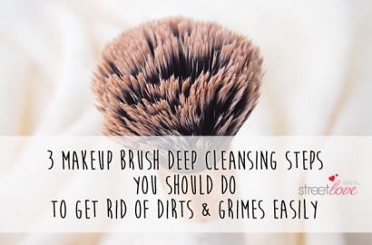 Three Makeup Brush Deep Cleansing Steps