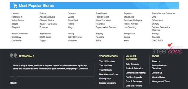 VoucherCodes Most Popular Stores
