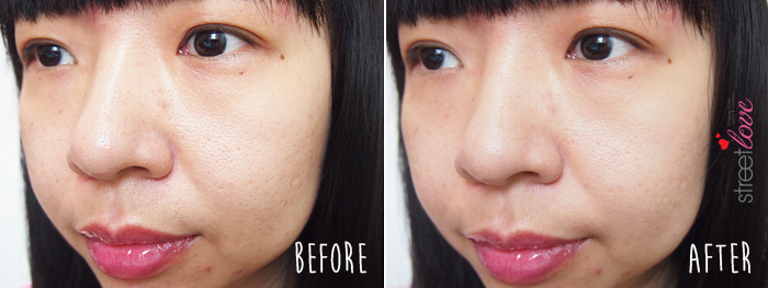 Murad Invisiblur Perfecting Shield Before and After