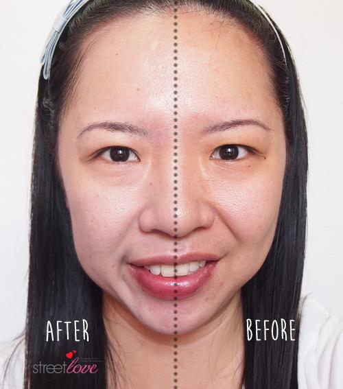 Dr-Jart+ V7 Toning Light Half Face Applied