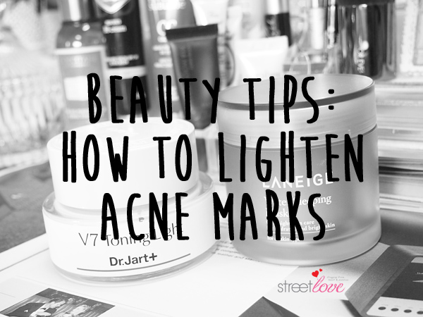 How to lighten acne marks