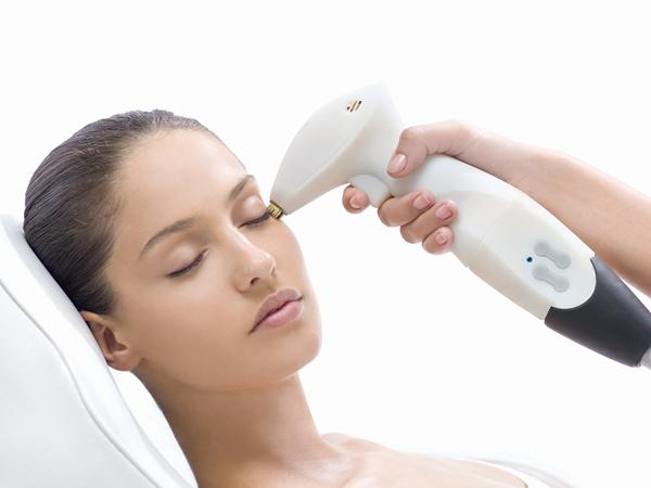 Laser face neck skin tightening