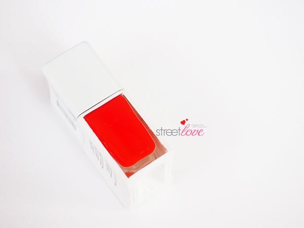 NailsInc Victoria Beckham Judo Red Bottle Side