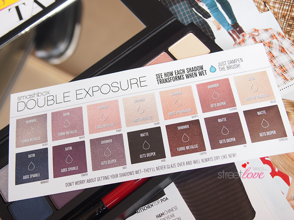 Smashbox Double Exposure Palette Dry or Wet Guide Card