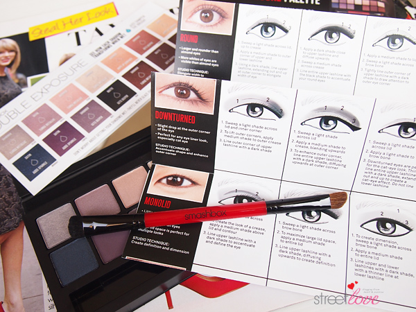 Smashbox Double Exposure Palette Dual-Ended Brush and Guide Booklet