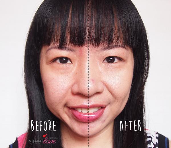 L'Occitane Immortelle Precious BB Cream SPF 30 Before and After
