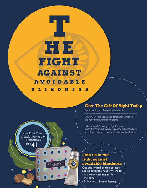 L'OCCITANE Charity Fundraising For The Blind 2015