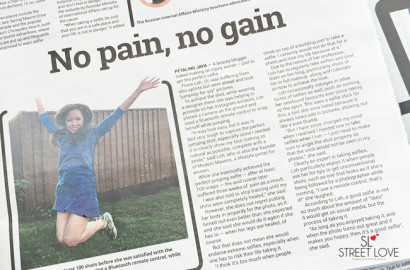 Malay Mail No Pain No Gain Selfie Interview March 2016