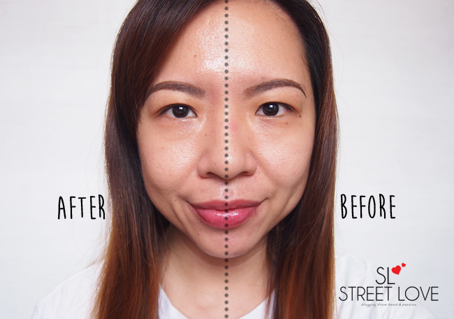 Suntegrity 5-in-1 Natural Moisturizing Face Sunscreen Before and After