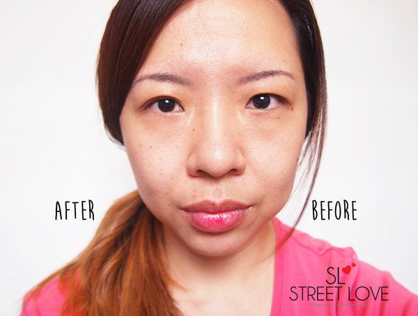 Clarins V-Facial Intensive Wrap Before and After