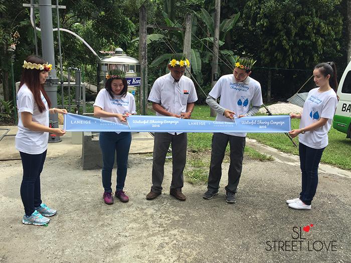 Laneige Waterful Sharing Campaign Handover Ceremony in Kampung Ulu Geruntum 1